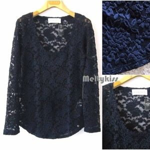 NWT ABERCROMBIE & FITCH A&F LACE TOP BLOUSE_XS